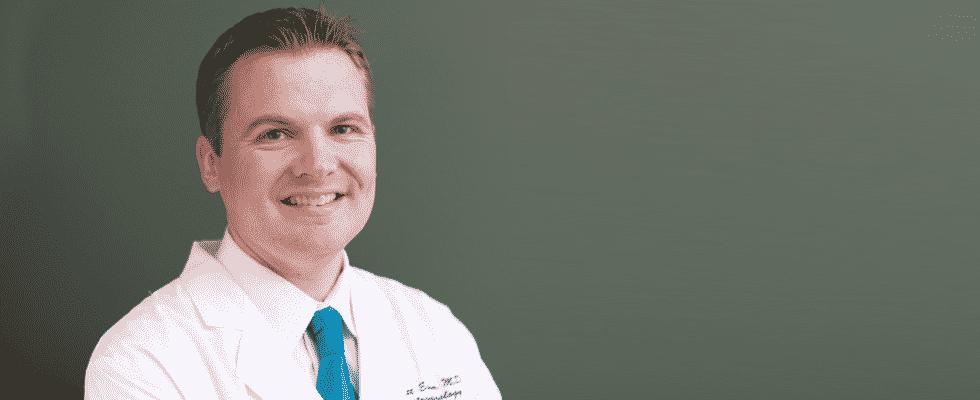 Dr. Eidem lab coat headshot