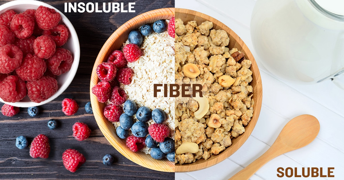fiber types - soluble and insoluble with food example images